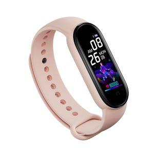 Zodight M5 Fitness Armband mit Blutdruckmessung,Smartwatch Fitness Tracker mit Pulsmesser Wasserdicht IP67 Fitness Uhr Blutdruck Messgeräte Pulsuhr Schrittzähler Uhr Damen Herren Rosa