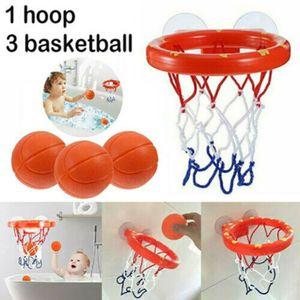 Kinder Badespielzeug Basketball Stand Hoop mit 3 Bälle Ballspielset Badespielzeug