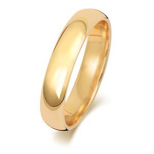 9 Karat (375) Gold 4mm Court Form Herren/Damen - Trauring/Ehering/Hochzeitsring, 49 (15.6); WJS24339KY