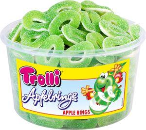 Trolli Saure Grüne Apfelringe Schaumgummi Fruchtgummi 150St 1200g