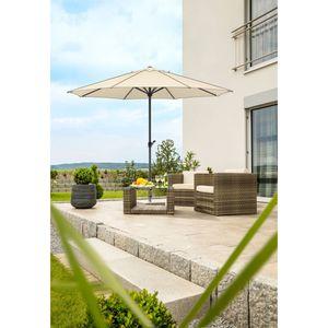 Sonnenschirm Adria 350/8, Farbe wählbar, Farbe:silbergrau