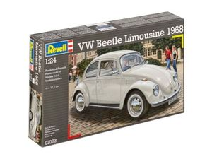 modellbausatz 1VW Beetle Limousine:24 weiß 125-teilig