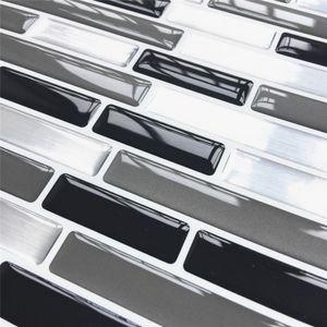 Mosaik selbstklebende Fliesen Backsplash Wandaufkleber Vinyl Badezimmer Küche Home Decor