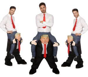 Huckepack-Kostüm Mann auf Trump