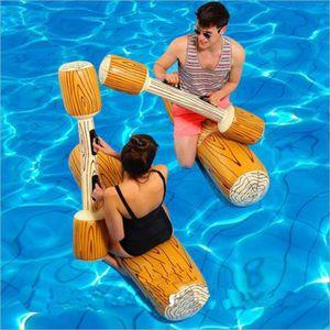 4 Stück/ Set Sommer Holzmaserung aufblasbare schwimmende Erwachsene Kinder Spaß Wasserspielzeug