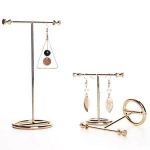 2Pcs Gold Schmuck Organizer zum Aufhängen von Ohrringen, Halsketten, Armbändern