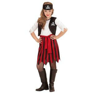 Piratin  Kostüm Kinder / Karneval Pirat Kleid Mädchen # Gr. 158