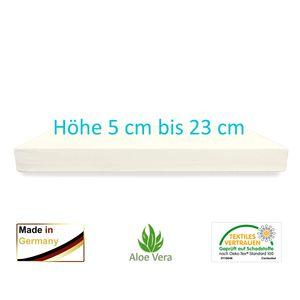 Dibapur Multivital - (130x200 x 5 cm) Orthopädische Kaltschaummatratze - H2,5 Mittelfest bis fest - Aloe Vera glatt Bezug 60 °C -   -  Germany