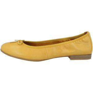 Tamaris 1-22116-24 Damen Ballerinas Schuhe Slipper Leder, Größe:39 EU, Farbe:Gelb