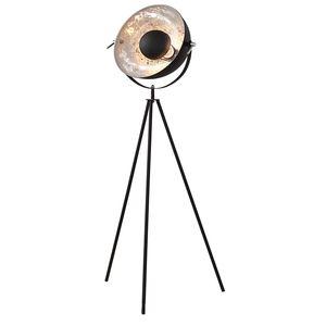 Industrial Design Stehlampe STUDIO 145cm schwarz Blattsilber-Optik Stehleuchte neigbarer Schirm