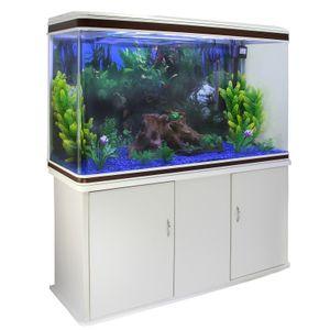 300L Aquarium Komplettset mit Unterschrank  & blauer Kies