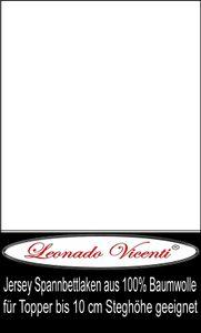 Topper Spannbettlaken 100% Baumwolle Jersey 180x200 - 200x200 cm weiß