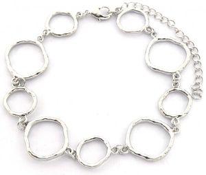 gliederarmband Lynn Damen 18-22 cm Edelstahl silber