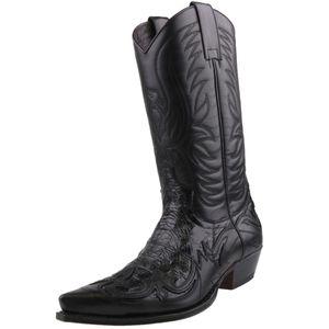 Sendra Boots 3241 Herren Cowboy-Stiefel Schwarz , Schuhgröße:EUR 47