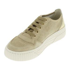 Geox D LICENA A - SUEDE METAL. Sneaker Beige, Größe: 40, D15HSA-022CF/CH62X