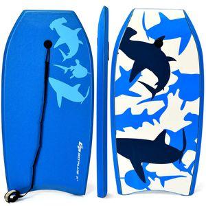 COSTWAY Bodyboard, Schwimmbrett Schwimmboard, Surfbrett Kinder, Surfboard, Sup-Board 104x52x6cm