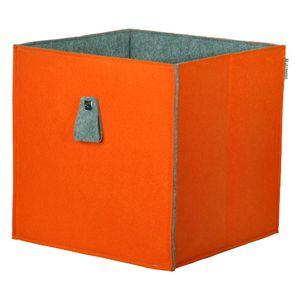 Phoenix Atlanta Aufbewahrungsbox Filz BxHxT cm 34 x 34 x 34 Orange / Grau