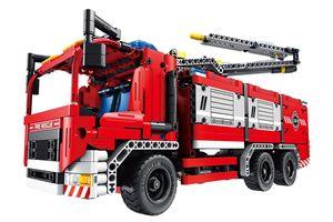 Teknotoys Active Bricks 2in1 Feuerwehrfahrzeug + Löschkanone Baugl. Qihui 6805
