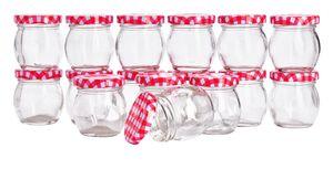 16 Gläser mit Schraubdeckel, bauchig, VBS Großhandelspckung