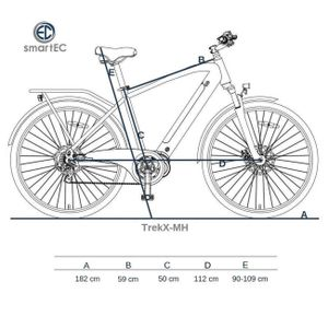 smartEC TrekX-MH Trekking Pedelec/E-Bike 28 Zoll Mittelmotor
