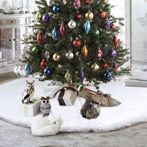 90cm Weihnachtsbaumdecke Weihnachtsbaum Rock Plüsche Weiche Weihnachtsbaum Decke Christbaumständer Teppich, Weihnachtsdeko für Weihnachtsfeiertagee Base Floor Mat Cover