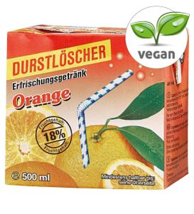 12x Durstlöscher Orange Fruchtsaftgetränk Tetra Pack fruchtig 500ml