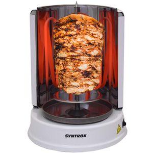 Syntrox Gyrosgrill Chef Grill RO-1400W-W Dönergrill weiß