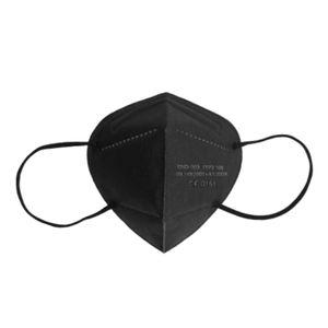 100 Stück Echte preiswerte FFP2-Maske, CE-0161 fünfschichtige Schutzmaske, 95% Filterschutzmaske( schwarz)