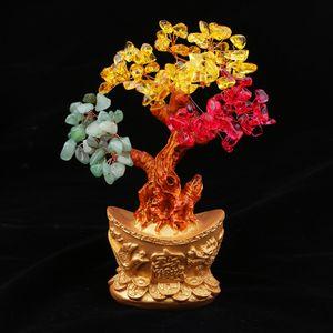 1 Stück Yuan Bao Bonsai Stil Reichtum Glück Baum , Drei Farben wie beschrieben