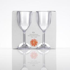 4er Set Weingläser aus bruchsicherem Kunststoff