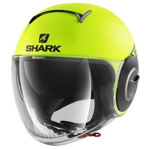 SHARK Jet Nano Street Helm - Neon, schwarz und gelb