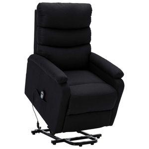 Sessel mit Aufstehhilfe Schwarz Stoff