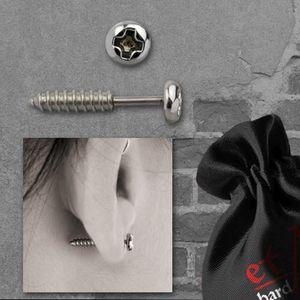 Ohrstecker Schraube: Edelstahl Fake Ohrringe von etNox