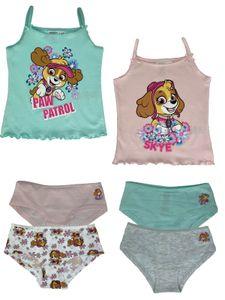 Unterwäsche-Set Jungen oder Mädchen - Paw Patrol - Unterhemden + Unterhosen als Vorteils Package, Größe:98/104, Motiv:Paw Patrol - girl