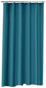 Duschvorhang 180x200 cm petrol wasserdicht Uni Badewannen Vorhang inkl. 12 Ringe