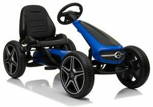 COIL Kinder Tretfahrzeug XMX610 Mercedes Kinderauto Tretauto Pedalen Rennkart Gokart Blau