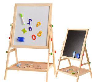 COSMOLINO Tafel, Kreidetafel Kinder Tafel Kinder, Kindertafel mit Kreide und Magnet, doppelseitig,magnetisch,Kindertafel,Standtafel Kinder,65x35x37cm