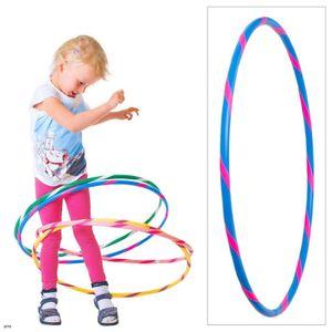 Bunter Kinder Hula Hoop für kleine Profis, Ø70cm, Blau-Pink