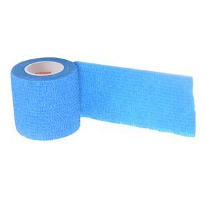 elastisches selbstklebendes Verbandband Gaze Wickelrolle Erste-Hilfe-Gurt blau wie beschrieben