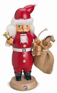 Rauchknacker Weihnachtsmann M. Glocke U. Geschenkesack, 14x27cm