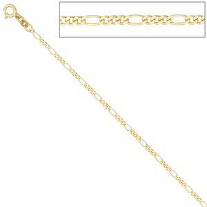 JOBO Figarokette 333 Gelbgold 2,3 mm 45 cm Gold Kette Halskette Federring