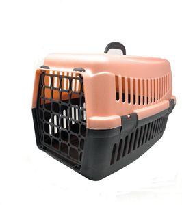 Transportbox (rosa) – Katzen- und Hundebox, Kunststoff, stabil und robust, einfacherVerschluss, Katzenkorb mit Griff FORTENA