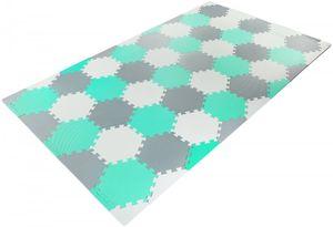 XXL Krabbelmatte Puzzelmatte mit Rand Spielmatte für Babys und Kleinkinder 260 x 135 x 1 cm + Wasserdicht + Tragetasche - Grün