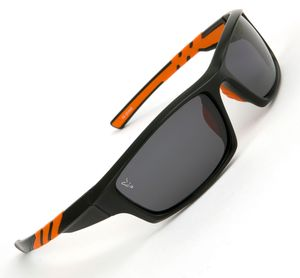 Fox Sunglasses Black Orange wraps grey lense - Polbrille