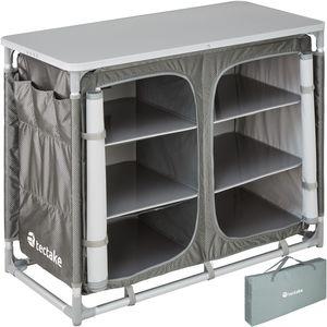 tectake Campingküche 97x47,5x78cm - grau