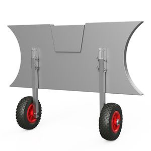 Heckräder, Slipräder, Schlauchbooträder, Transporträder, klappbar, SUPROD ET200, Edelstahl, schwarz/rot