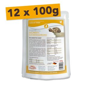 SALiNGO Premium Katzen Nassfutter Huhn mit Rüben 12 x 100g