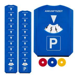 relaxdays 20x Parkscheibe mit Eiskratzer Parkuhr Parkkarte Kunststoff 3 Einkaufswagenchips