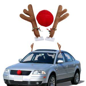 Auto Weihnachten Rentier Geweih & rote Nase für LKW SUV Nachbildung BR