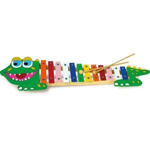 Small Foot Design 7977 Xylophon 'Krokodil', mit 12 Tönen und 2 Schlägeln, bunt (1 Stück)